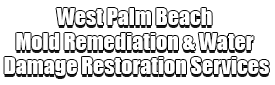 West Palm Beach Mold Remediation & Water Damage Restoration Services Logo-We offer home restoration services, water damage restoration, mold removal & remediation, water removal, fire and smoke damage services, fire damage restoration, mold remediation inspection, and more.